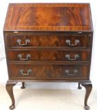 SOLD - Mahogany Writing Bureau by Reprodux
